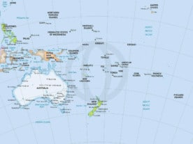 Map of Oceania, formal style