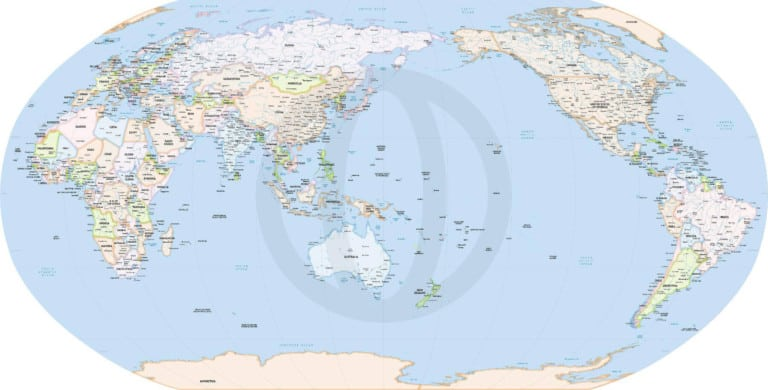 Formal map, Australia and Asia centered